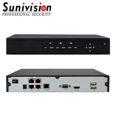 NVR POE 4ch 1080P ONVIF XMEYE support 2 SATA HDD
