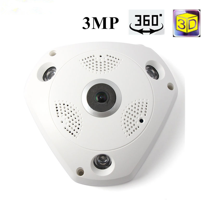 Wifi Camera 360Degree Fisheye Indoor PTZ IP Camera