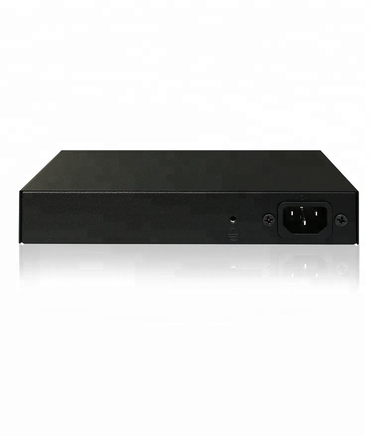 16 Port POE Switch 16 port 100Mbps PoE + 1 gigabit combo uplink and 1 gigabit uplink
