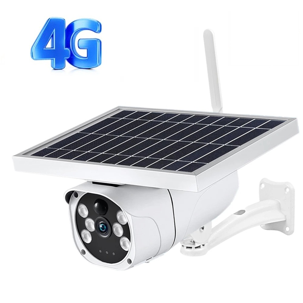 4G SIM Card Solar 1080P HD Outdoor Built-in Lithium Battery Smart Security Monitoring PIR Motion Detection Camera